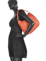 Schoudertas Wilt Spirit Leder Cowboysbag Roze wilt spirit 1681-vue-porte