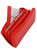 Portefeuille Cuir Nathan baume Rouge grained 243N-vue-porte