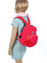 Sac à Dos Mini Kipling Rose back to school 8568-vue-porte