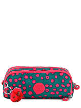 Trousse 3 Compartiments Kipling Vert back to school 13564