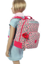 Sac à Dos 1 Compartiment Kipling Rose basic 14853-vue-porte
