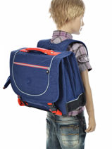 Cartable 2 Compartiments Kipling Bleu back to school 15078-vue-porte