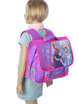 Cartable 2 Compartiments Frozen Violet christal 13424-vue-porte