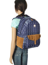 Sac à Dos 1 Compartiment Roxy Bleu back to school JBP03269-vue-porte