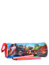 Trousse 1 Compartiment Avengers Rouge basic AST2238-vue-porte