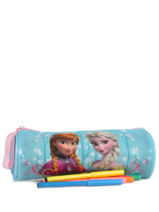 Trousse 1 Compartiment Frozen Bleu basic AST2240-vue-porte