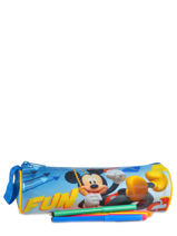 Trousse 1 Compartiment Mickey Bleu basic AST2242-vue-porte