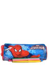 Trousse 1 Compartiment Spiderman Noir basic AST2246-vue-porte