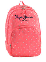 Sac à Dos 2 Compartiments Pepe jeans Rose stars 63624