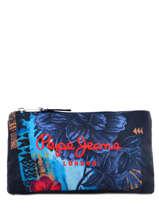 Trousse 3 Compartiments Pepe jeans Bleu mangrove 64243