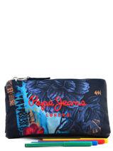 Trousse 3 Compartiments Pepe jeans Bleu mangrove 64243-vue-porte