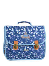 Cartable 2 Compartiments Poids plume Bleu be all over color PCO1535