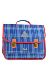 Cartable 2 Compartiments Poids plume Bleu be all over color PCO1538