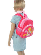 Sac à Dos Mini Miniprix Rose girl 7701G16-vue-porte