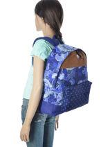 Sac à Dos 1 Compartiment Roxy Bleu back to school JBP03265-vue-porte