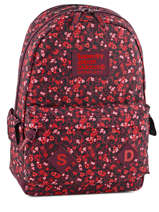 Sac à Dos 1 Compartiment Superdry Rouge top G91002JN