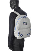 Sac à Dos 1 Compartiment Superdry Gris backpack men U91007DN-vue-porte
