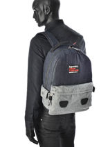 Sac à Dos 1 Compartiment Superdry Bleu backpack men U91009CN-vue-porte