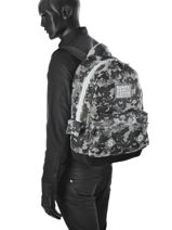 Sac à Dos 1 Compartiment Superdry Gris backpack men U91001DN-vue-porte