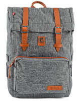Sac à Dos 1 Compartiment Kuts Gris fashion SWELL