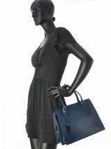 Handtas Tess Leder Etrier Blauw tess ETESS02-vue-porte