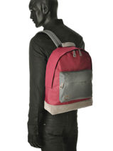 Sac à Dos 1 Compartiment Mi pac Rouge bagpack 740002-vue-porte