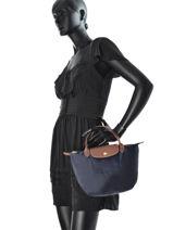 Longchamp Handtas Blauw-vue-porte