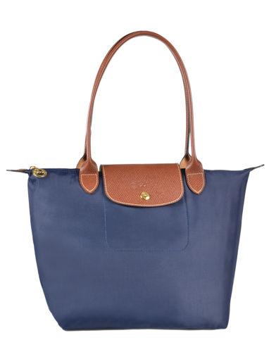 Longchamp Schoudertas Blauw