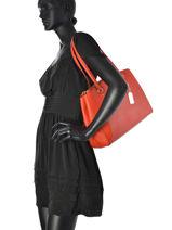 Sac Shopping Casual Cuir Coach Rouge casual 36878-vue-porte