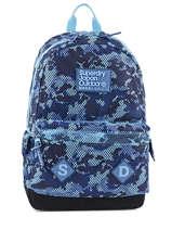 Sac à Dos 1 Compartiment Superdry Bleu backpack men U91001DN