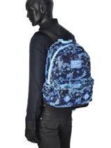 Sac à Dos 1 Compartiment Superdry Bleu backpack men U91001DN-vue-porte