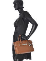 Sac Trapèze Fashion Cuir Coach Marron fashion 34816-vue-porte