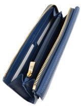 Portefeuille Leder Furla Blauw club CLU-PQ33-vue-porte