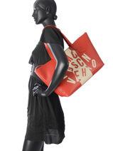 Sac Porté épaule A4 Crazy Logo Love moschino Rouge crazy logo JC4058PP-vue-porte