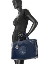 Handtas Vernice Lucida Gelakt Armani jeans Blauw vernice lucida 5291-55-vue-porte