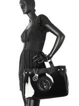 Cabas Vernice Lucida Verni Armani jeans Noir vernice lucida 5291-55-vue-porte