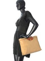 Longchamp Aktetas Beige-vue-porte