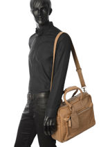 Porte-documents 1 Compartiment Cowboysbag Marron vegetal 1528-vue-porte