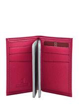 Porte-cartes Cuir Hexagona Rose confort 461007-vue-porte