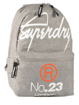 Sac à Dos 1 Compartiment Superdry Gris backpack M91001DO