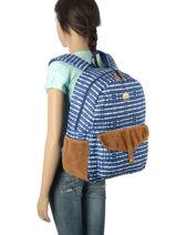 Sac à Dos 1 Compartiment Roxy Bleu backpack RJBP3399-vue-porte