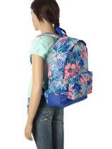 Sac à Dos 1 Compartiment Roxy Bleu backpack RJBP3406-vue-porte