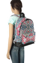 Sac à Dos 1 Compartiment Roxy Multicolore backpack RJBP3406-vue-porte