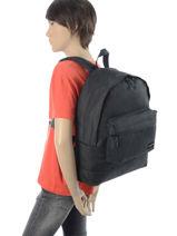 Sac à Dos 1 Compartiment Quiksilver Noir backpacks QYBP3337-vue-porte