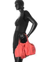 Bucket Bag Tradition Leder Etrier Rood tradition EHER001-vue-porte