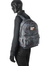 Sac à Dos 1 Compartiment Superdry Violet backpack M91001NO-vue-porte