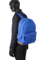 Sac à Dos 1 Compartiment Superdry Bleu backpack M91003DO-vue-porte