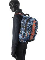 Sac à Dos 2 Compartiments Superdry Bleu backpack M91006DO-vue-porte