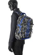 Sac à Dos 2 Compartiments Superdry Noir backpack M91006DO-vue-porte