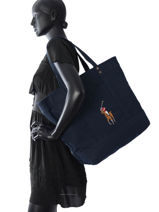 Sac Porté épaule Poney Player Polo ralph lauren Bleu poney player A92XZ6OI-vue-porte